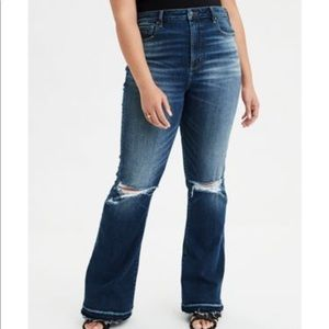AEO highest Waist Flare Jean 'Easy does it' size 0